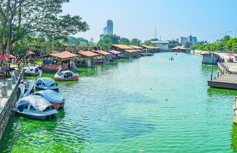 Mercato del lago a Colombo immagini stock libere da diritti