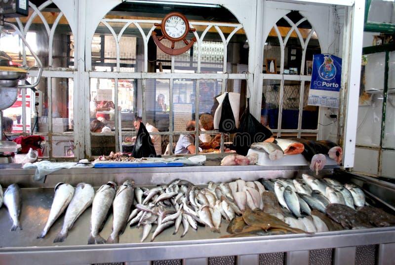 Mercato del Pesce二Bolhao,波尔图 免版税库存图片