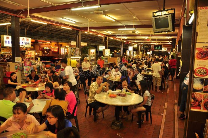 Mercato dell'alimento di notte in Malesia fotografia stock