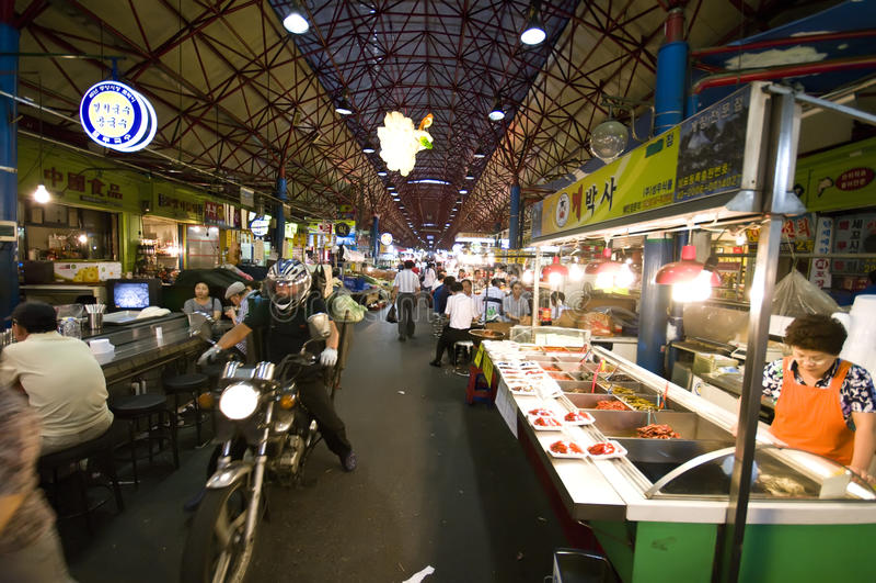 Mercato dell'alimento, Seoul immagine stock