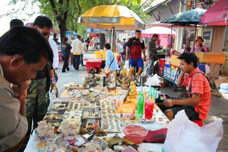 Mercato dell'amuleto di Bangkok fotografia stock libera da diritti