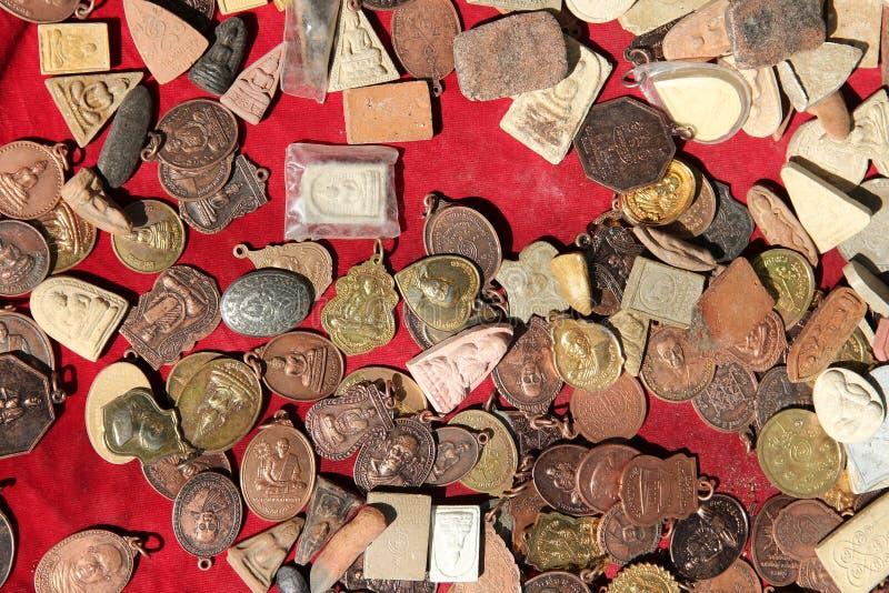 Mercato dell'amuleto di Bangkok immagini stock