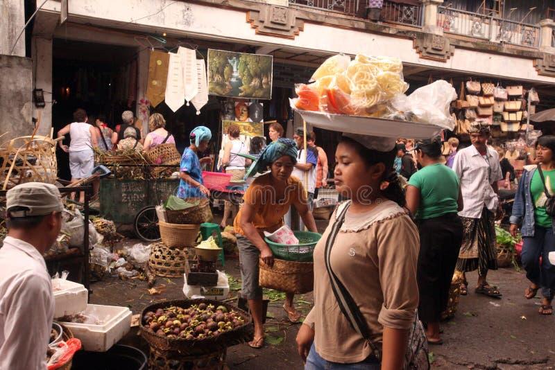 MERCATO DELL'ASIA INDONESIA BALI UBUD fotografia stock