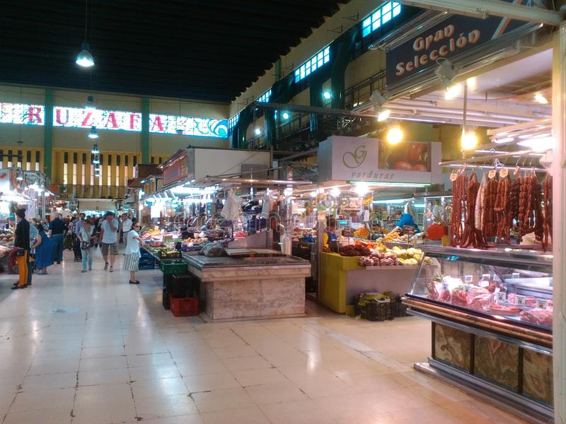 Mercato dell'interno Valencia Spain fotografia stock