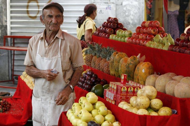 MERCATO DELLA CITTÀ DEL SUDAMERICA VENEZUELA MARACAIBO immagini stock libere da diritti