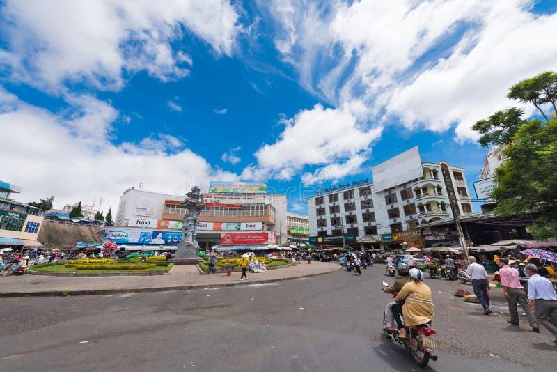 Mercato della città di Dalat - di Cho Da Lat nel Vietnam fotografie stock libere da diritti