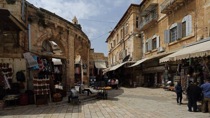 Mercato di Aftimos di vecchia città di Gerusalemme, Israele fotografia stock libera da diritti