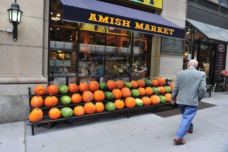 Mercato di Amish in Manhattan New York immagine stock