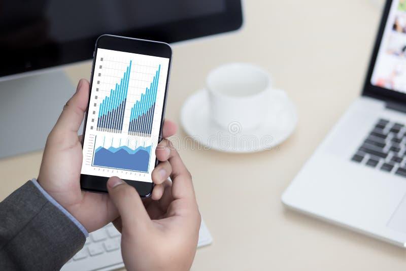 Mercato di aumento di crescita del diagramma di dati di gestione di analisi di statistiche immagine stock