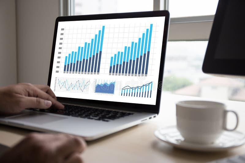Mercato di aumento di crescita del diagramma di dati di gestione di analisi di statistiche fotografia stock
