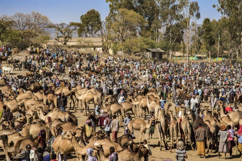 Mercato di Bati, Etiopia fotografia stock