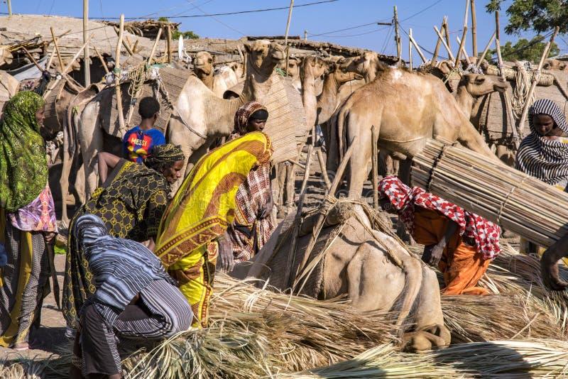 Mercato di Bati, Etiopia immagini stock
