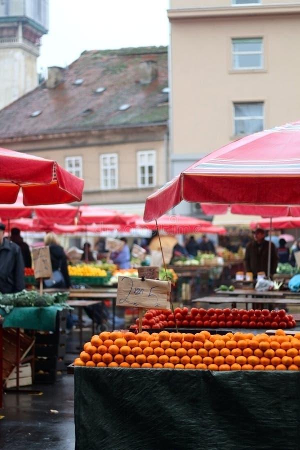 Mercato di Dolac, Zagabria fotografia stock