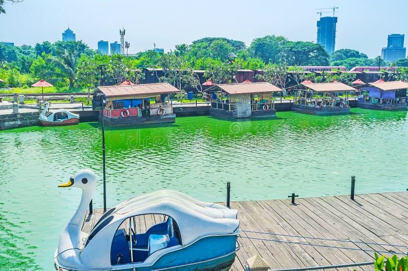 Mercato di galleggiamento di Colombo fotografie stock libere da diritti