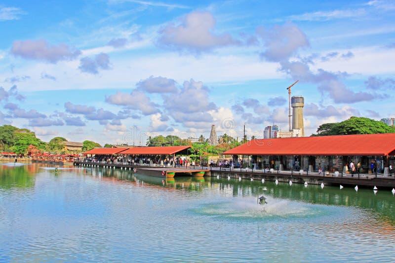 Mercato di galleggiamento di Pettah, Colombo, Sri Lanka immagini stock