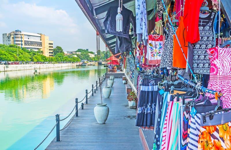 Mercato di galleggiamento di Pettah di visita a Colombo immagini stock libere da diritti