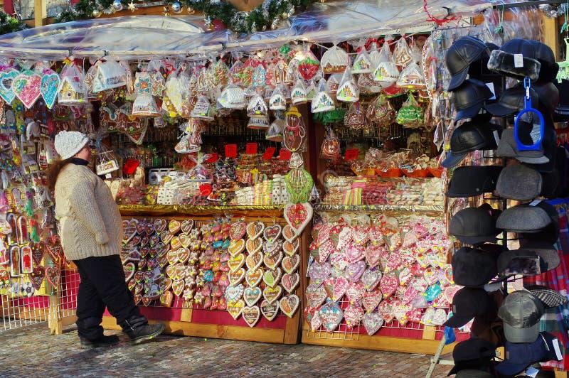 Mercato di Natale fotografie stock