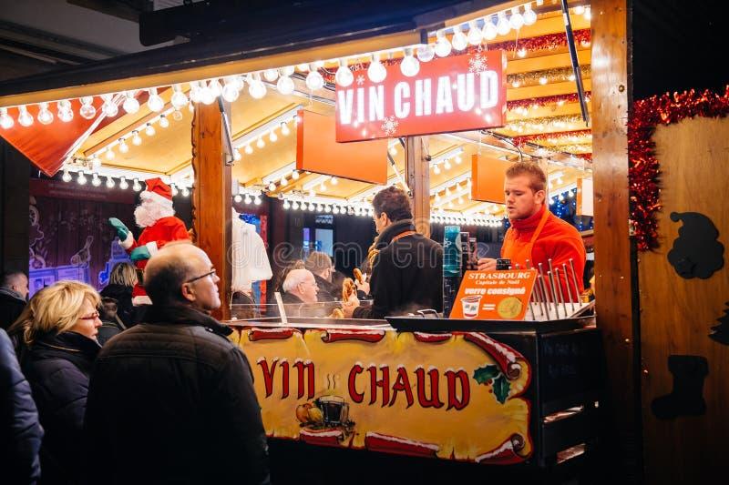 Mercato di Natale del vin brulé fotografia stock libera da diritti