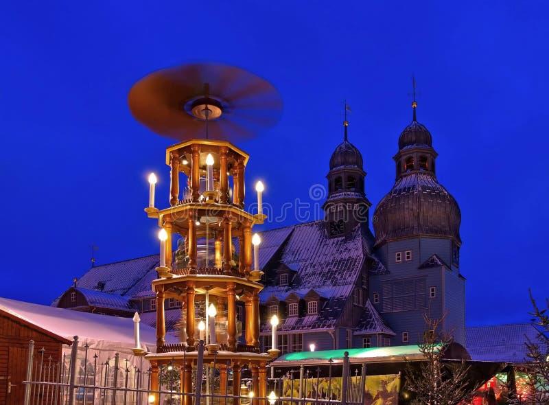 Mercato di natale di Clausthal-Zellerfeld fotografia stock