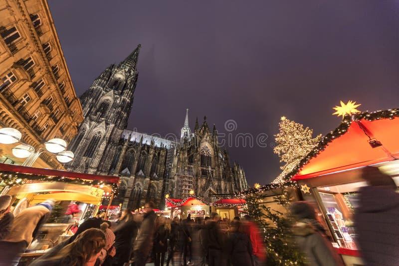 Mercato di Natale di Colonia fotografie stock libere da diritti