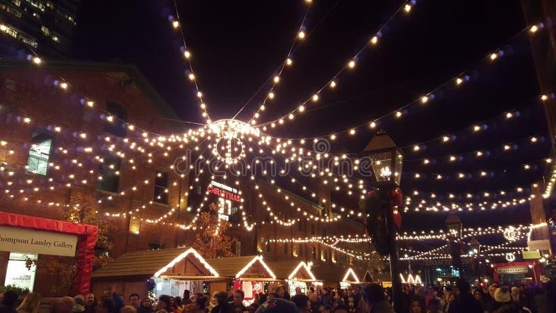 Mercato di Natale di Toronto immagine stock