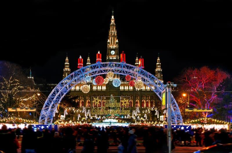 Mercato di Natale Vienna - in Austria fotografia stock