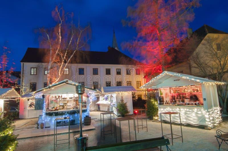 Mercato di Natale, Zagabria, Croazia fotografie stock libere da diritti