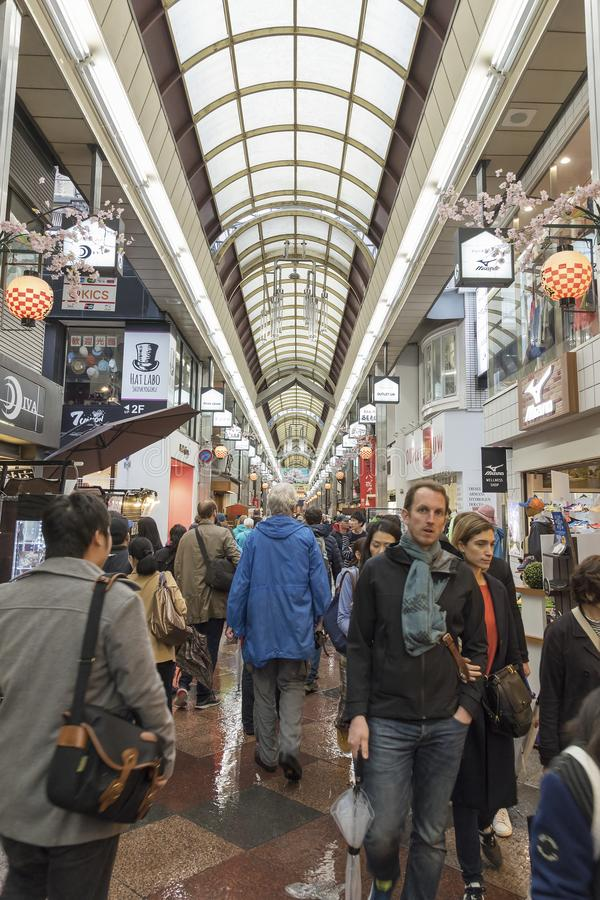 Mercato di Nishiki, Kyoto, Giappone fotografia stock libera da diritti