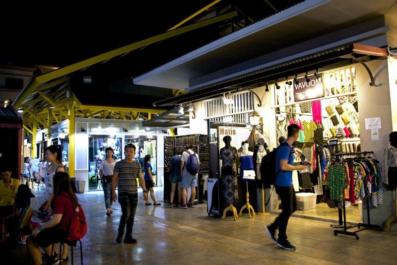 Mercato di notte a Bangkok, Tailandia immagine stock libera da diritti