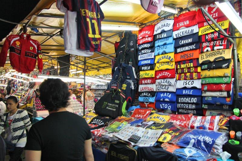 Mercato di notte di Bangkok Patpong fotografie stock libere da diritti