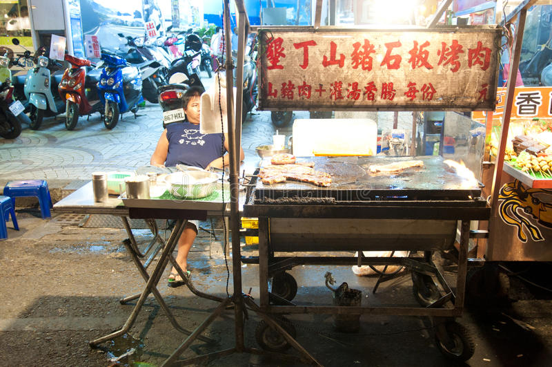 Mercato di notte di Kenting fotografie stock