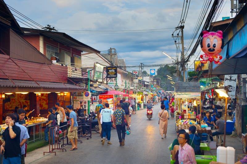 Mercato di notte di Pai, Tailandia fotografia stock libera da diritti