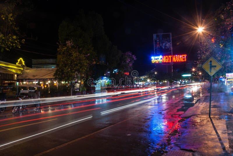 Mercato di notte di Siem Reap, Cambogia immagine stock libera da diritti