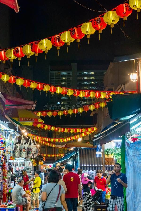 Mercato di notte di Singapore alla città della porcellana immagine stock libera da diritti