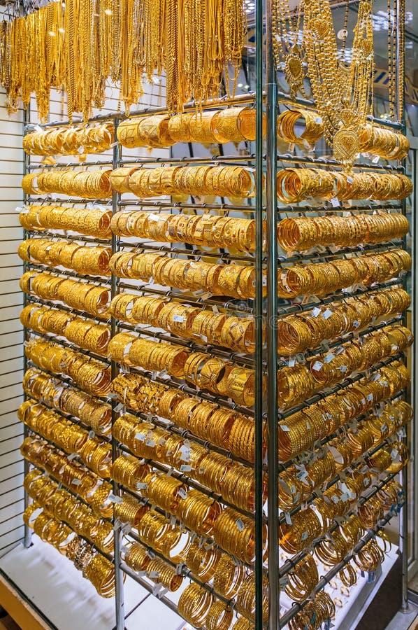 Mercato di oro in Duba immagini stock