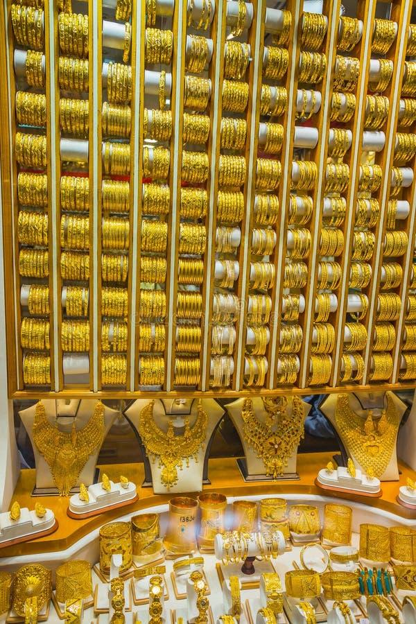 Mercato di oro in Duba fotografia stock