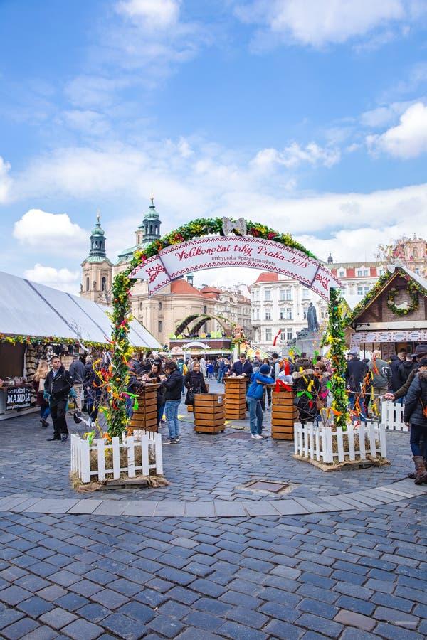 Mercato di Pasqua a Praga fotografie stock libere da diritti