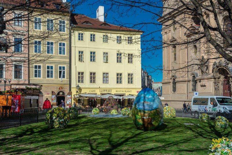 Mercato di Praga Pasqua fotografia stock