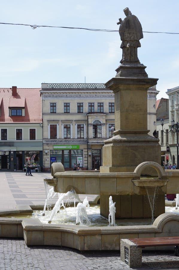 Mercato di Rybnik in Slesia superiore, Polonia immagini stock