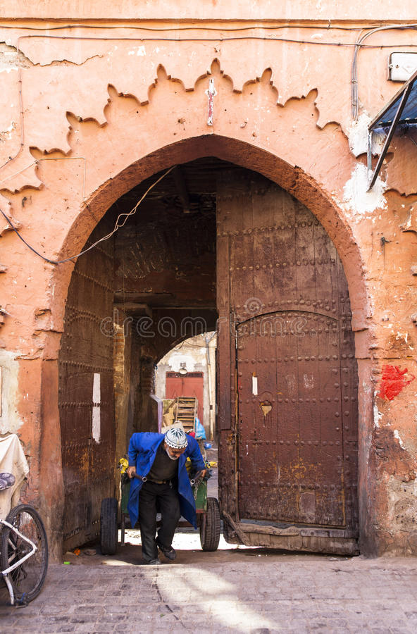 Mercato di Souk a Marrakesh, Marocco fotografia stock libera da diritti