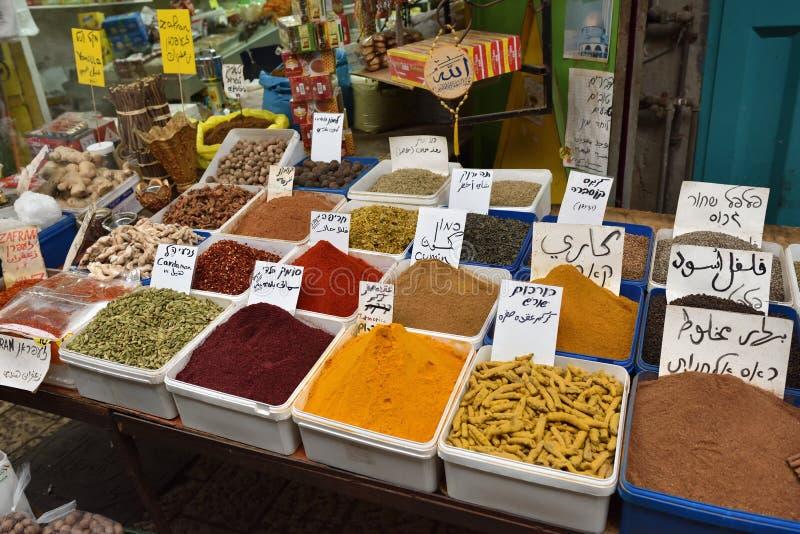 Mercato di strada in Akko, Israele fotografia stock libera da diritti