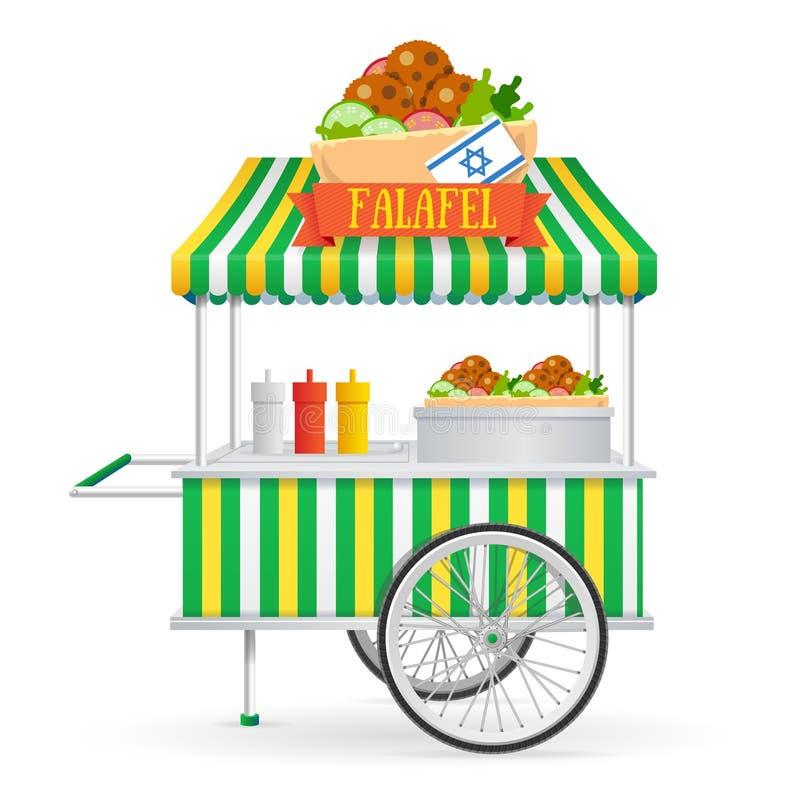 Mercato di strada del Falafel Vettore illustrazione di stock