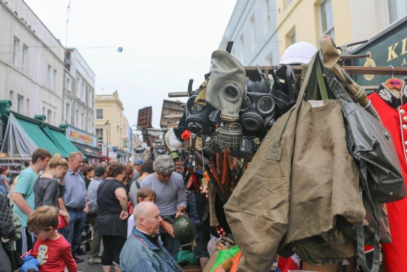 Mercato di strada di Portobello in Notting Hill, Londra, Regno Unito fotografia stock