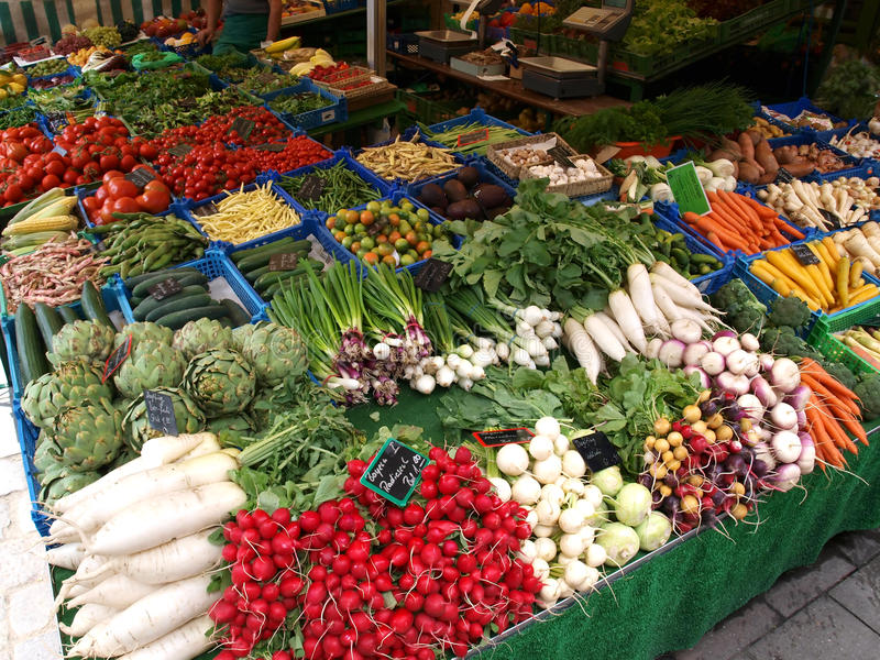Mercato di verdure immagini stock