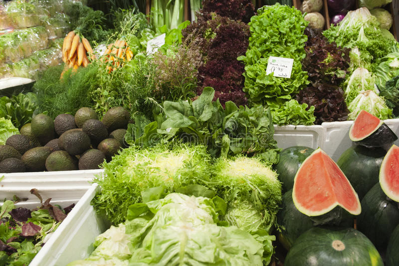 Mercato di verdure immagini stock libere da diritti