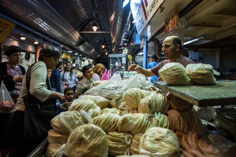 Mercato di Yehuda a Gerusalemme, Israele fotografia stock libera da diritti