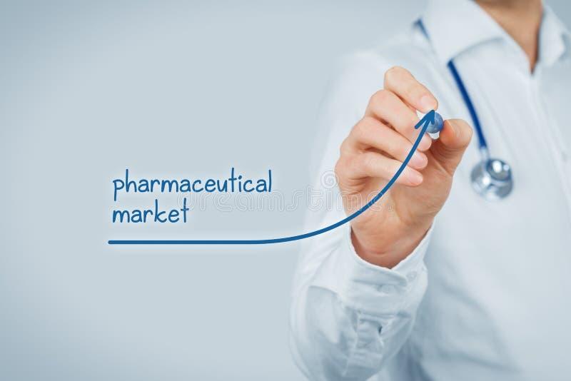 Mercato farmaceutico crescente fotografie stock libere da diritti