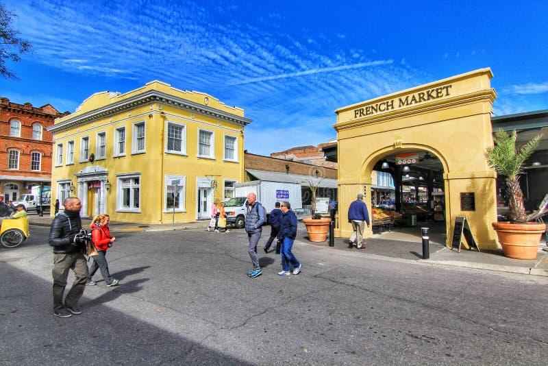 Mercato francese a New Orleans, Luisiana fotografie stock libere da diritti