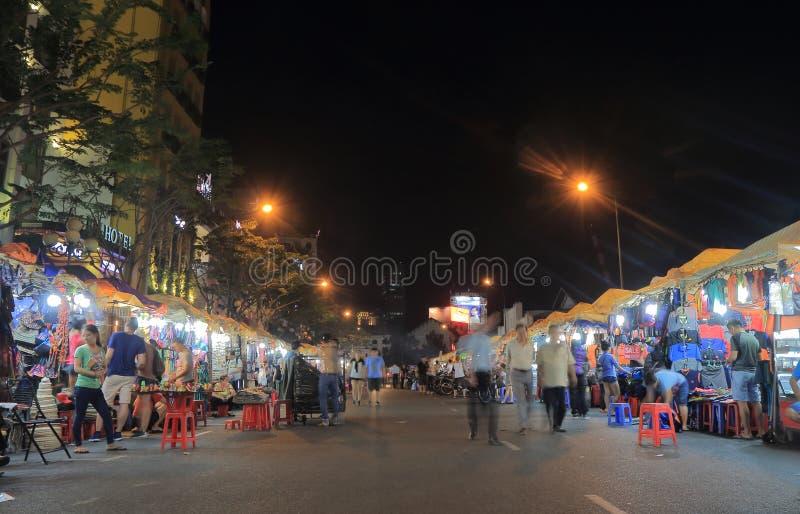 Mercato Ho Chi Minh City Vietnam di notte di Ben Thanh fotografie stock libere da diritti