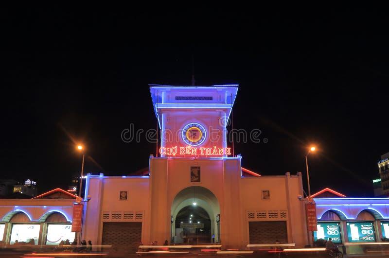 Mercato Ho Chi Minh City Vietnam di notte di Ben Thanh fotografia stock